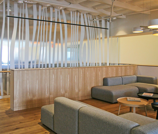 Image showing front office area with sofas