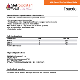 Image showing Metwest tsuedo wall covering